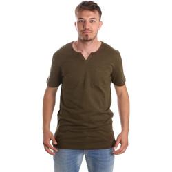 Ruhák Férfi Rövid ujjú pólók Antony Morato MMKS01487 FA100139 Zöld