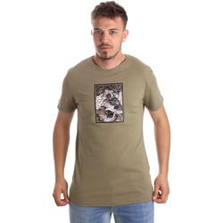 Ruhák Férfi Rövid ujjú pólók Antony Morato MMKS01551 FA100144 Zöld