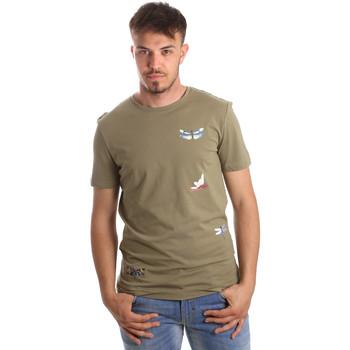 Ruhák Férfi Rövid ujjú pólók Antony Morato MMKS01515 FA100144 Zöld