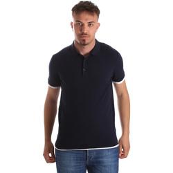 Ruhák Férfi Rövid ujjú galléros pólók Gaudi 911FU53006 Kék