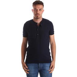 Ruhák Férfi Rövid ujjú pólók Gaudi 911FU53008 Kék