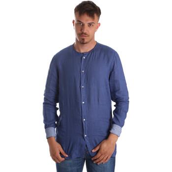 Ruhák Férfi Hosszú ujjú ingek Gaudi 911BU45002 Kék