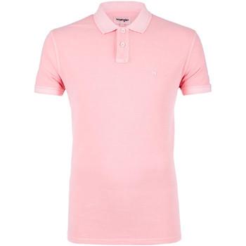 Ruhák Férfi Rövid ujjú galléros pólók Wrangler W7C15K Rózsaszín