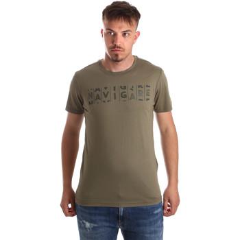 Ruhák Férfi Rövid ujjú pólók Navigare NV31081 Zöld