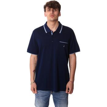 Ruhák Férfi Rövid ujjú galléros pólók Navigare NV72045AD Kék