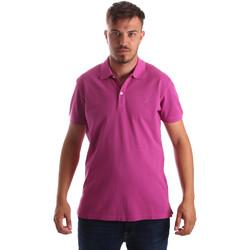 Ruhák Férfi Rövid ujjú galléros pólók Navigare NV82086 Rózsaszín