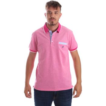 Ruhák Férfi Rövid ujjú galléros pólók Navigare NV82092 Rózsaszín