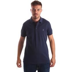 Ruhák Férfi Rövid ujjú galléros pólók Navigare NV82097AD Kék