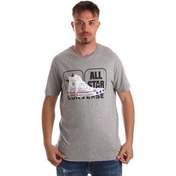 Ruhák Férfi Rövid ujjú pólók Converse 10017575-A01 Szürke