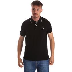 Ruhák Férfi Rövid ujjú galléros pólók U.S Polo Assn. 50336 51263 Fekete