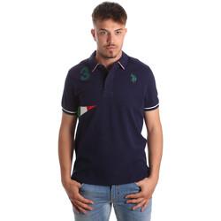 Ruhák Férfi Rövid ujjú galléros pólók U.S Polo Assn. 41029 51252 Kék