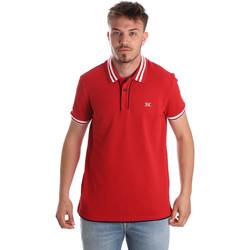 Ruhák Férfi Rövid ujjú galléros pólók NeroGiardini P972210U Piros