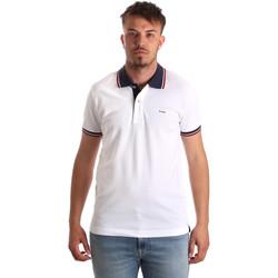 Ruhák Férfi Rövid ujjú galléros pólók Key Up 2Q62G 0001 Fehér