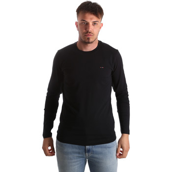 Ruhák Férfi Hosszú ujjú pólók Key Up 2E96B 0001 Fekete