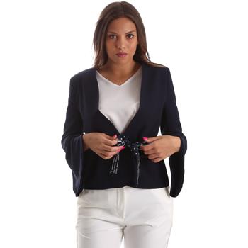Ruhák Női Kabátok / Blézerek Fracomina FR19SP668 Kék