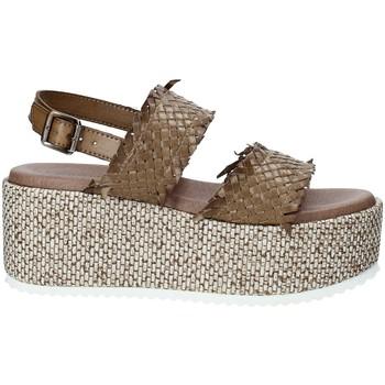 Cipők Női Gyékény talpú cipők Pregunta IBH6649 Barna