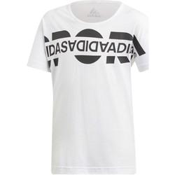 Ruhák Lány Rövid ujjú pólók adidas Originals DV0279 Fehér