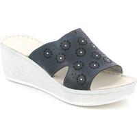 Cipők Női Papucsok Grunland CI1561 Kék