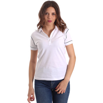 Ruhák Női Rövid ujjú galléros pólók La Martina NWP002 PK001 Fehér