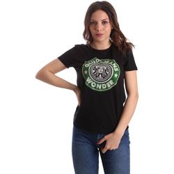 Ruhák Női Rövid ujjú pólók Gaudi 911BD64038 Fekete