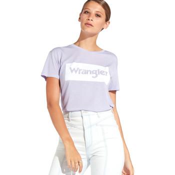Ruhák Női Rövid ujjú pólók Wrangler W7016D Ibolya