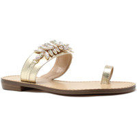 Cipők Női Lábujjközös papucsok Gold&gold A19 GL303 Arany