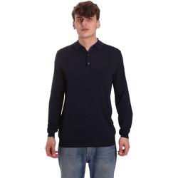 Ruhák Férfi Hosszú ujjú galléros pólók Antony Morato MMSW01065 YA500057 Kék