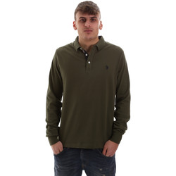 Ruhák Férfi Hosszú ujjú galléros pólók U.S Polo Assn. 52415 47773 Zöld