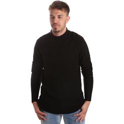 Ruhák Férfi Pulóverek Gaudi 921FU53025 Fekete