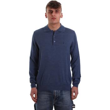 Ruhák Férfi Hosszú ujjú galléros pólók Navigare NV11006 40 Kék