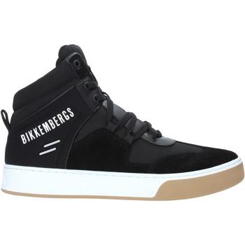 Cipők Férfi Magas szárú edzőcipők Bikkembergs B4BKM0038 Fekete