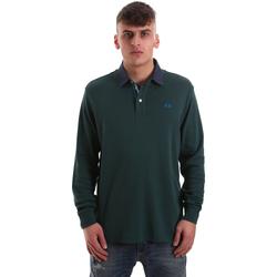Ruhák Férfi Hosszú ujjú galléros pólók La Martina OMP007 JS169 Zöld