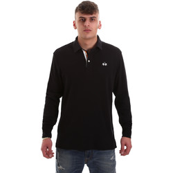 Ruhák Férfi Hosszú ujjú galléros pólók La Martina OMP007 JS169 Fekete