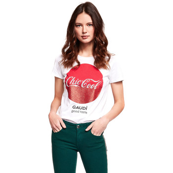 Ruhák Női Rövid ujjú pólók Gaudi 921BD64047 Fehér