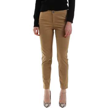 Ruhák Női Chino nadrágok / Carrot nadrágok NeroGiardini A960700D Barna