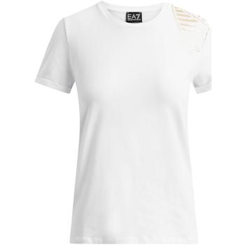 Ruhák Női Rövid ujjú pólók Ea7 Emporio Armani 6GTT07 TJ12Z Fehér