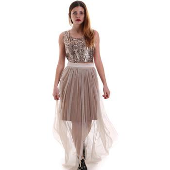 Ruhák Női Hosszú ruhák Fracomina FR19FM518 Bézs