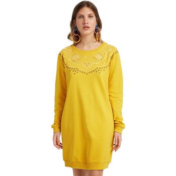 Ruhák Női Rövid ruhák Desigual 19WWVK86 Sárga