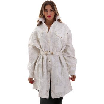 Ruhák Női Kabátok Versace D2HUB445HRC43003 Fehér