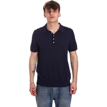 Ruhák Férfi Rövid ujjú galléros pólók Gaudi 011BU53011 Kék