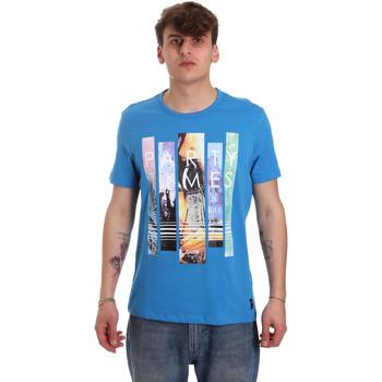 Ruhák Férfi Rövid ujjú pólók Gaudi 011BU64028 Kék