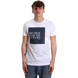 Ruhák Férfi Rövid ujjú pólók Gaudi 011BU64067 Fehér