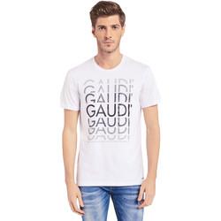 Ruhák Férfi Rövid ujjú pólók Gaudi 011BU64068 Fehér