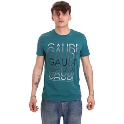 Ruhák Férfi Rövid ujjú pólók Gaudi 011BU64068 Zöld