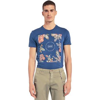 Ruhák Férfi Rövid ujjú pólók Gaudi 011BU64070 Kék
