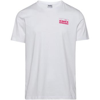 Ruhák Férfi Rövid ujjú pólók Diadora 502175837 Fehér