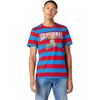 Ruhák Férfi Rövid ujjú pólók Wrangler W7E1FKXKL Kék