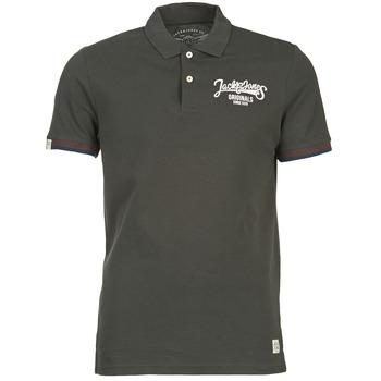 Ruhák Férfi Rövid ujjú galléros pólók Jack & Jones COMPANY Fekete