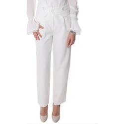 Ruhák Női Chino nadrágok / Carrot nadrágok Fracomina FR20SP164 Fehér