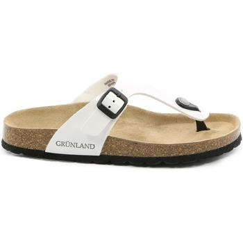 Cipők Női Lábujjközös papucsok Grunland CB0025 Fehér